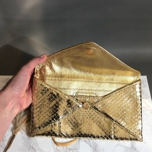 Michael Kors Runway Anaconda Clutch 52% off MSRP